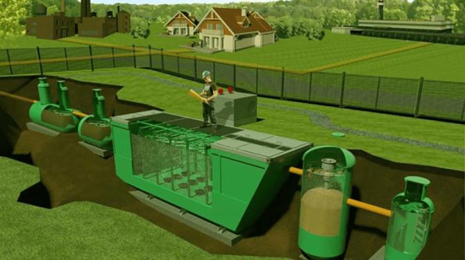 расположение очистных сооружений